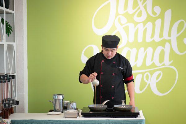 Live Cooking Station at Garden Cafe