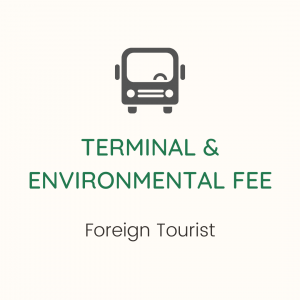 Government Fees for Foreign Tourist