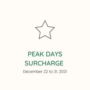 Peak Days Surcharge