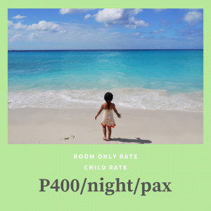 Room Only Child Rate at Patio Pacific Boracay
